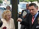 Premier Jens Stoltenberg w rozmowie z Panią Janiną Tarchalską
