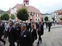 Premier Norwegii Jens Stoltenberg opuszcza ostrzeszowski rynek