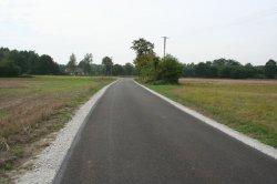 Droga w miejscowości Kotowskie